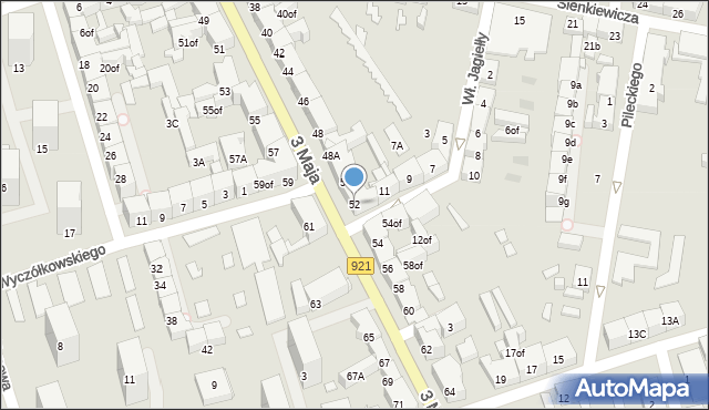 Zabrze, 3 Maja, 52, mapa Zabrza