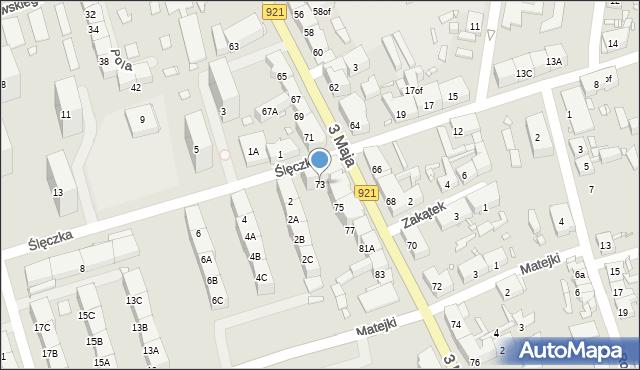 Zabrze, 3 Maja, 73, mapa Zabrza