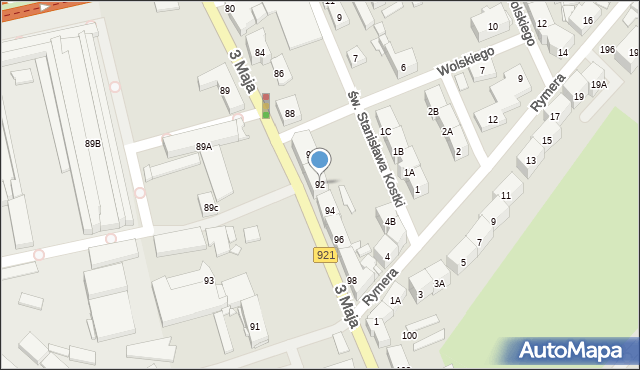 Zabrze, 3 Maja, 92, mapa Zabrza