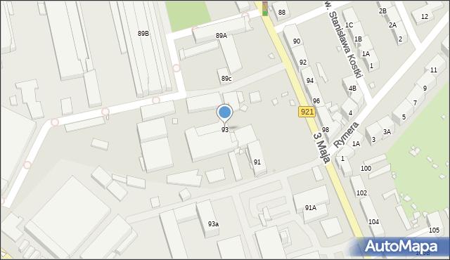 Zabrze, 3 Maja, 93, mapa Zabrza