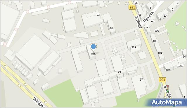 Zabrze, 3 Maja, 93a, mapa Zabrza