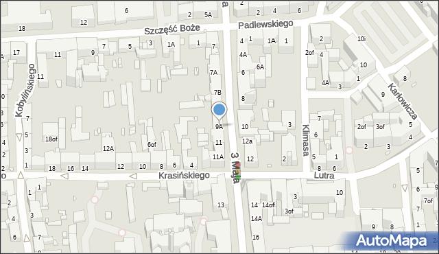 Zabrze, 3 Maja, 9A, mapa Zabrza