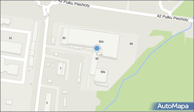 Białystok, 42 Pułku Piechoty, 64, mapa Białegostoku