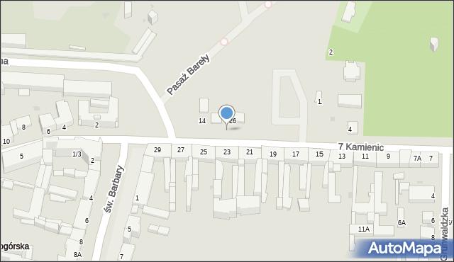 Częstochowa, 7 Kamienic, 8, mapa Częstochowy