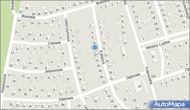 Bytom, 8 Marca, 12, mapa Bytomia