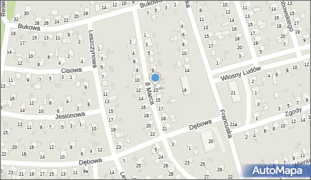 Bytom, 8 Marca, 13, mapa Bytomia