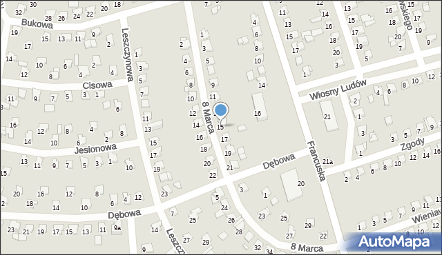 Bytom, 8 Marca, 15, mapa Bytomia