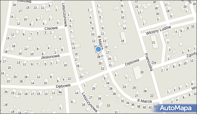 Bytom, 8 Marca, 18, mapa Bytomia