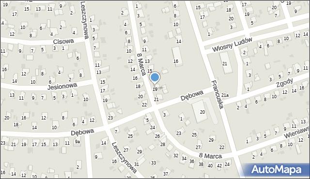 Bytom, 8 Marca, 19, mapa Bytomia