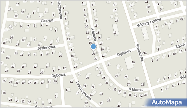 Bytom, 8 Marca, 20, mapa Bytomia