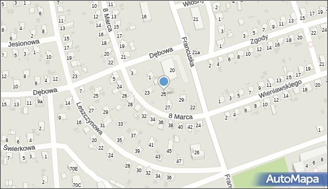 Bytom, 8 Marca, 25, mapa Bytomia