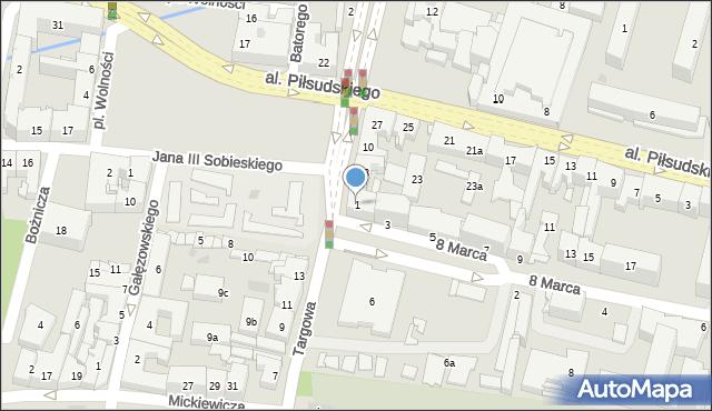 Rzeszów, 8 Marca, 1, mapa Rzeszów