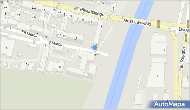 Rzeszów, 8 Marca, 6, mapa Rzeszów