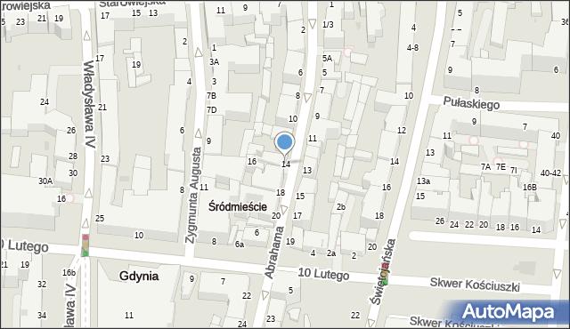 Gdynia, Abrahama Antoniego, 14, mapa Gdyni