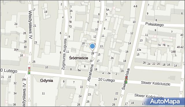 Gdynia, Abrahama Antoniego, 18, mapa Gdyni