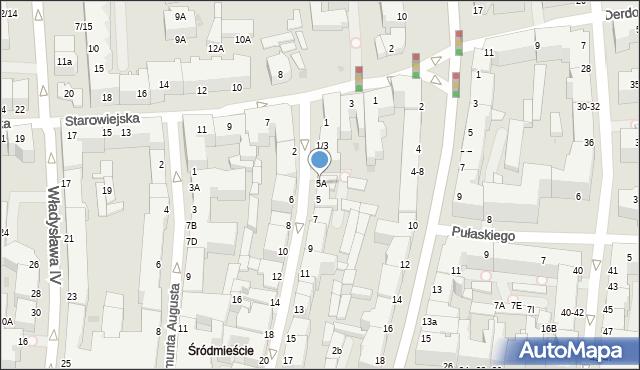 Gdynia, Abrahama Antoniego, 5A, mapa Gdyni