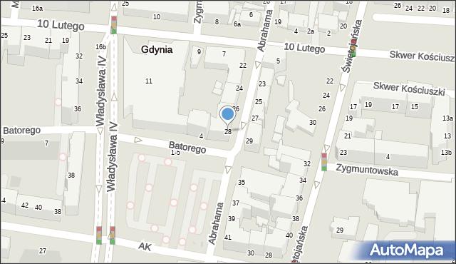 Gdynia, Abrahama Antoniego, 28, mapa Gdyni
