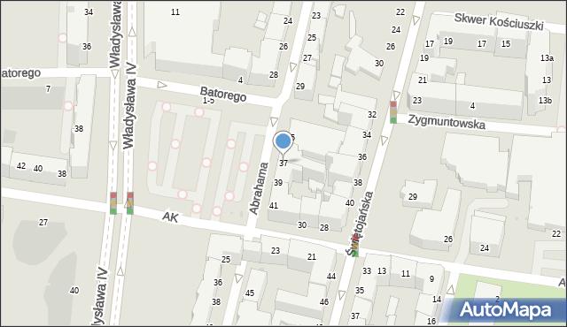 Gdynia, Abrahama Antoniego, 37, mapa Gdyni