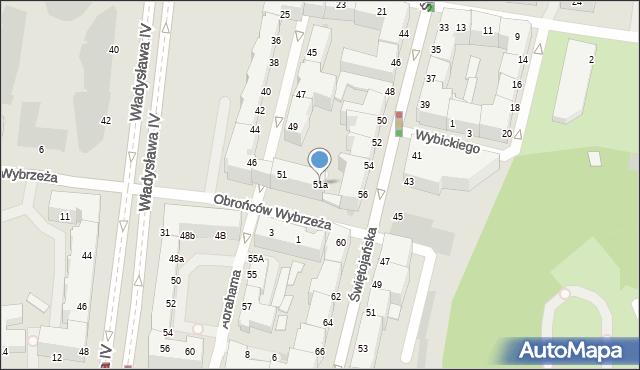 Gdynia, Abrahama Antoniego, 51a, mapa Gdyni