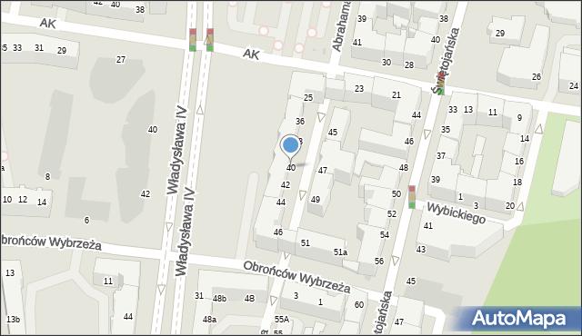 Gdynia, Abrahama Antoniego, 40, mapa Gdyni
