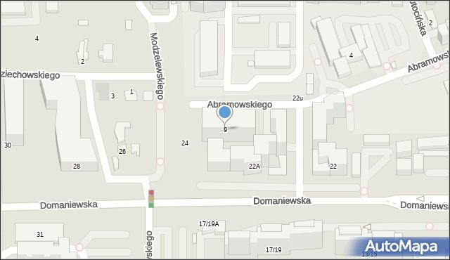 Warszawa, Abramowskiego Edwarda, 23, mapa Warszawy