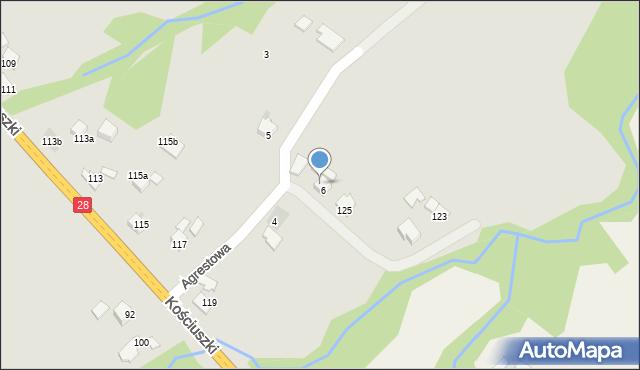 Limanowa, Agrestowa, 9, mapa Limanowa