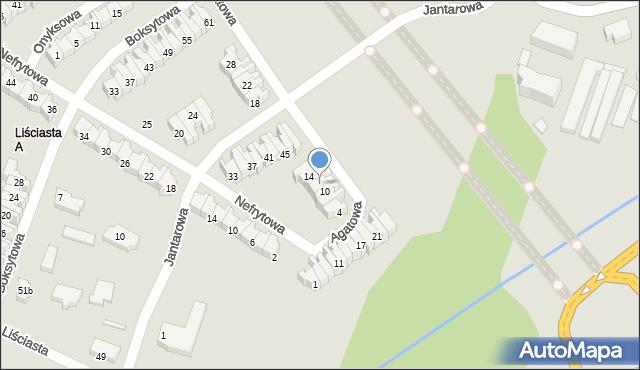 Łódź, Agatowa, 12, mapa Łodzi