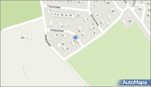 Chocianów, Akacjowa, 12, mapa Chocianów