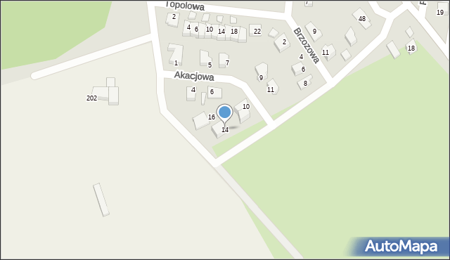 Chocianów, Akacjowa, 14, mapa Chocianów
