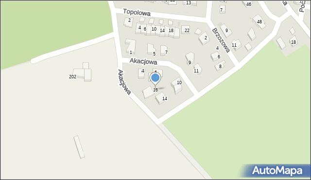 Chocianów, Akacjowa, 16, mapa Chocianów