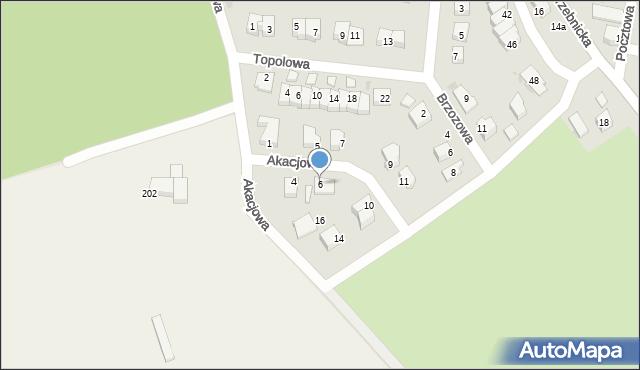 Chocianów, Akacjowa, 6, mapa Chocianów