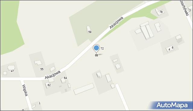 Gaj, Akacjowa, 68, mapa Gaj