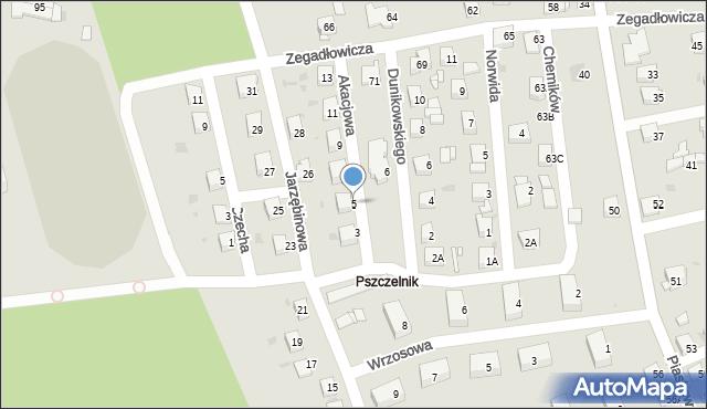 Jaworzno, Akacjowa, 5, mapa Jaworzno