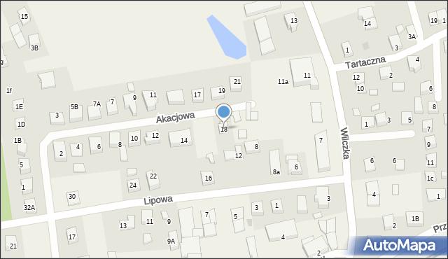 Luzino, Akacjowa, 18, mapa Luzino