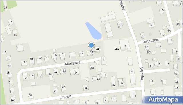 Luzino, Akacjowa, 19, mapa Luzino