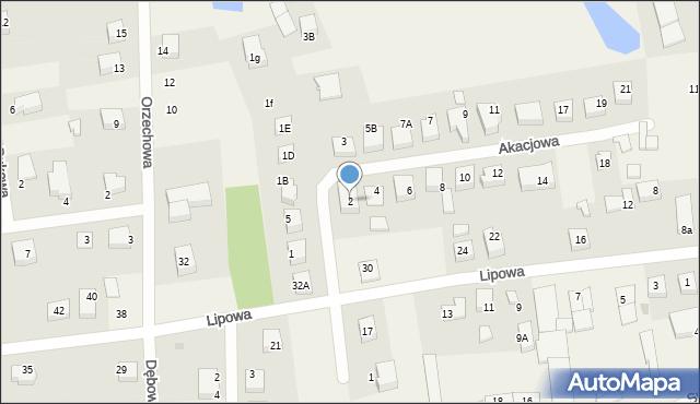 Luzino, Akacjowa, 2, mapa Luzino