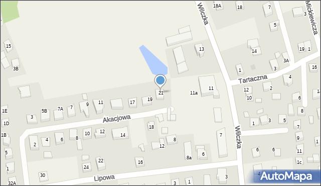 Luzino, Akacjowa, 21, mapa Luzino