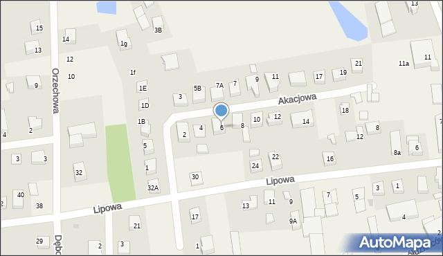 Luzino, Akacjowa, 6, mapa Luzino