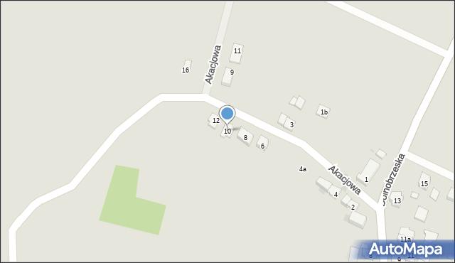 Miękinia, Akacjowa, 10, mapa Miękinia