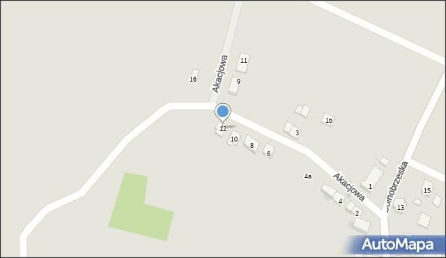 Miękinia, Akacjowa, 12, mapa Miękinia