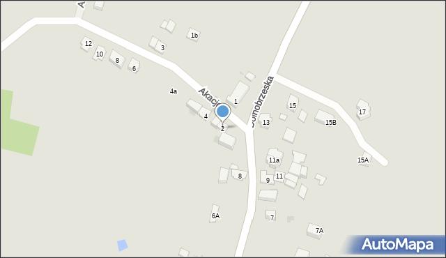 Miękinia, Akacjowa, 2, mapa Miękinia