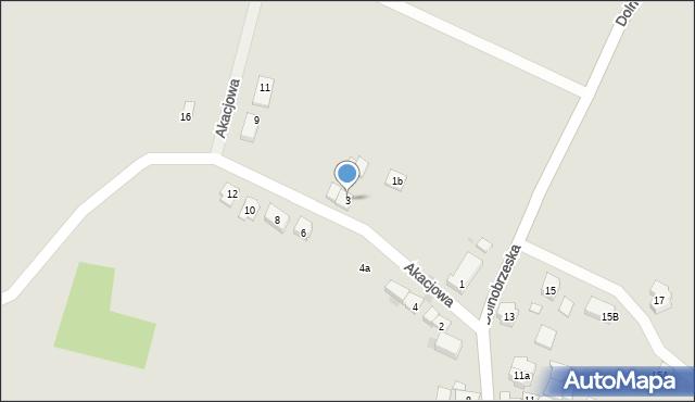 Miękinia, Akacjowa, 3, mapa Miękinia