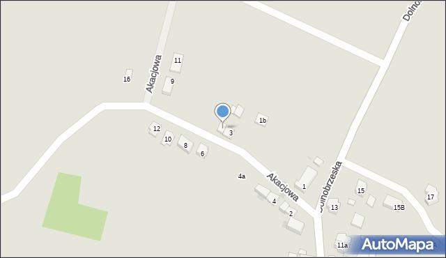 Miękinia, Akacjowa, 3a, mapa Miękinia