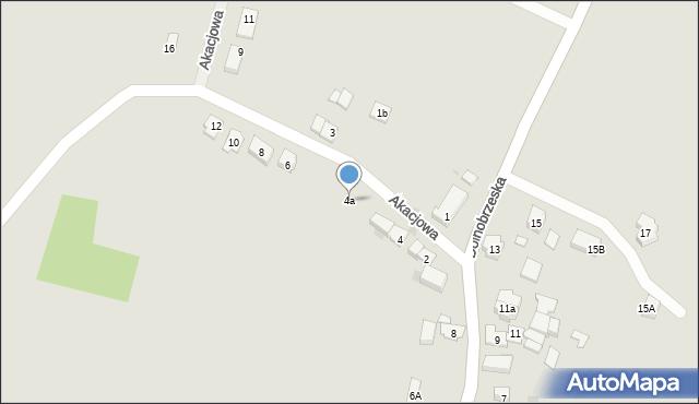 Miękinia, Akacjowa, 4a, mapa Miękinia