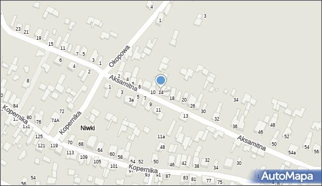 Poręba, Aksamitna, 14, mapa Poręba