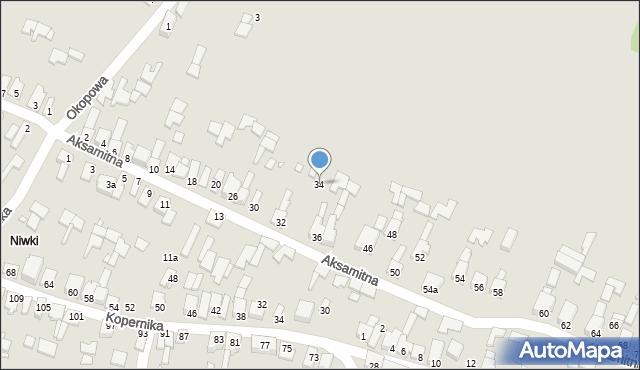 Poręba, Aksamitna, 34, mapa Poręba