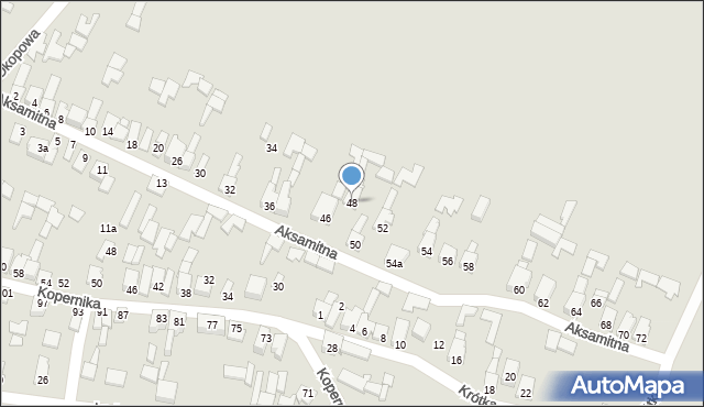 Poręba, Aksamitna, 48, mapa Poręba