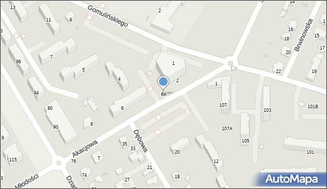 Pruszków, Akacjowa, 6A, mapa Pruszków