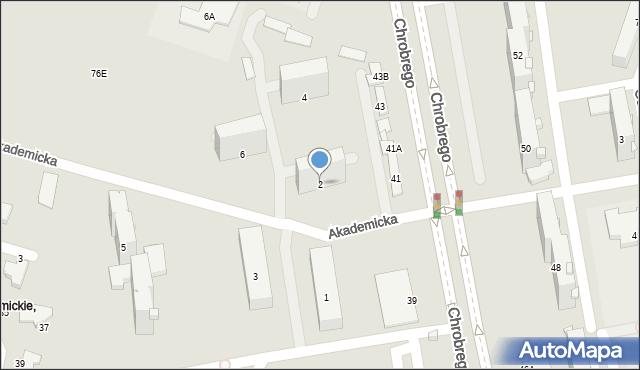 Radom, Akademicka, 2, mapa Radomia