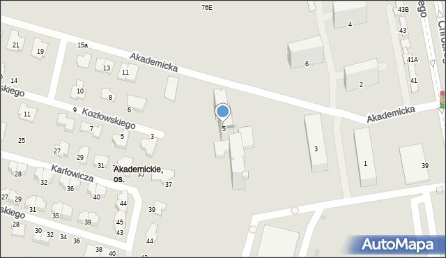 Radom, Akademicka, 5, mapa Radomia